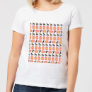 Day Time Geisha Block Pattern Women's T-Shirt - White