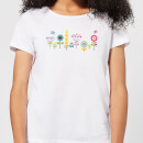 Childish Flowers 1 Women's T-Shirt - White