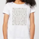 Grey Leafy Blobs Women's T-Shirt - White