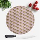 Cooking Hot Dog Pattern Round Chopping Board