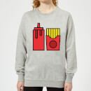 Cooking Ketchup And Fries Women's Sweatshirt