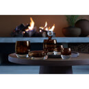 LSA Whisky Club Peat Brown Connoisseur Set and Walnut Cork Serving Tray
