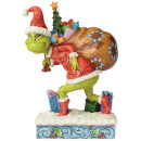 The Grinch By Jim Shore Tip Toeing Grinch with Bag of Gifts Over Shoulder Figurine