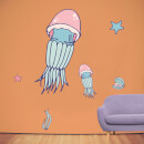 Jellyfish Pair Wall Art Sticker Pack
