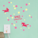 Space Unicorn Starry Adventure Wall Art Sticker Pack