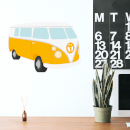 Yellow Van Wall Art Sticker