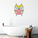Pink Owl Wall Art Sticker