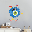 Monster Doing Handstand On Skateboards Wall Art Sticker
