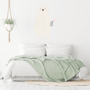 White Bear With Flower Wall Art Sticker