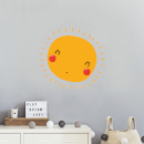 Sun With Face Wall Art Sticker