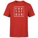 How Ridiculous Forty Four Square T-shirt - Red