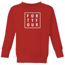 How Ridiculous Forty Four Square Kids' Sweatshirt - Red
