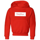 How Ridiculous Forty Four Banner Kids' Hoodie - Red