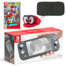 Nintendo Switch Lite (Grey) Super Mario Odyssey Pack