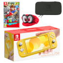 Nintendo Switch Lite (Yellow) Super Mario Odyssey Pack