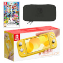 Nintendo Switch Lite (Yellow) Super Smash Bros. Ultimate Pack