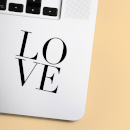 Love Block Laptop Sticker