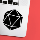 D20 Dice Laptop Sticker
