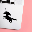 Show Jumping Unicorn Laptop Sticker