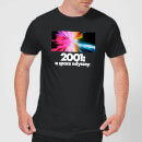 2001: A Space Odyssey Coloured Lights Men's T-Shirt - Black