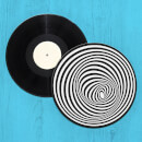 Optical Illusion Record Player Slip Mat
