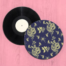 Snake And Flowers Repeat Pattern Record Player Slip Mat