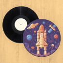 Space Shuttle Take Off Record Player Slip Mat