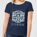 Crystal Maze Will You Start The Fans Please! Women's T-Shirt - Navy