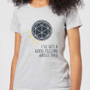 Crystal Maze I've Got A Good Feeling About This- Industrial Women's T-Shirt - Grey