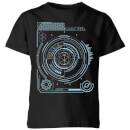 Crystal Maze Futuristic Crystal Kids' T-Shirt - Black
