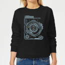 Crystal Maze Futuristic Crystal Women's Sweatshirt - Black