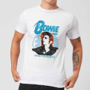 David Bowie Ziggy Stardust Orange Hair Men's T-Shirt - White