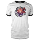 Magic The Gathering Throne of Eldraine Lil Red Rowan Hood White / Black Ringer T-Shirt - White