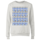 Night Time Geisha Block Pattern Women's Sweatshirt - White
