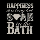 Happiness Is A Long Hot Soak In The Bath Women's Sweatshirt - Black