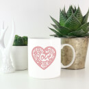 Pink Cut Out Love Heart Mug