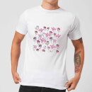 Candlelight Spring Flower Bed Men's T-Shirt - White