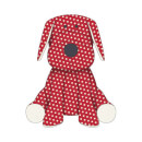 Candlelight Red Polka Dot Dog Teddy Men's T-Shirt - White