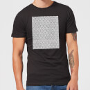 Candlelight Lace Fabric Pattern Men's T-Shirt - Black