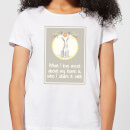 Candlelight Hare Frame What I Love Most About My Home Is Who I Share It With Women's T-Shirt - White