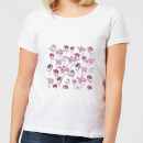 Candlelight Spring Flower Bed Women's T-Shirt - White