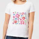 Candlelight Spring Pansy Flower Bed Women's T-Shirt - White