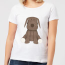 Candlelight Brown Dog Teddy Women's T-Shirt - White