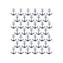 Candlelight Anchor Repeat Pattern Women's T-Shirt - White