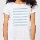 Candlelight Simple Wave Pattern Women's T-Shirt - White