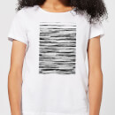Candlelight Wood Texture Water Colour Women's T-Shirt - White