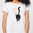 Candlelight I Love My Cat Black Cat Women's T-Shirt - White