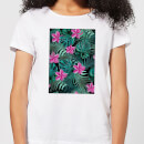 Candlelight Dense Jungle Scene Women's T-Shirt - White
