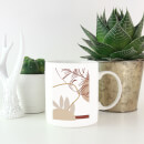 Decorative Leaf Print Mug