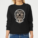 Day Of The Dead Skull Women's Sweatshirt - Black